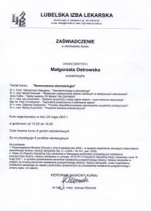 Stomatologia Dentica - Certyfikat