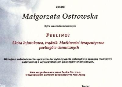 Stomatologia Dentica - Certyfikat uczestnictwa w szkoleniu