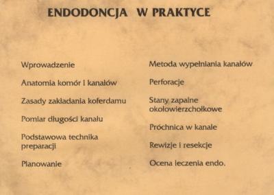 Stomatologia Dentica - Certyfikat - Endodoncja