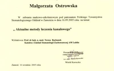 Stomatologia Dentica - Certyfikat - zaświadczenie