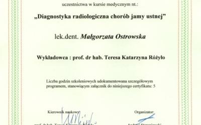 Stomatologia Dentica - Certyfikat Dentysty