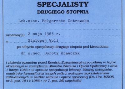 Stomatologia Dentica - Dyplom Specjalisty