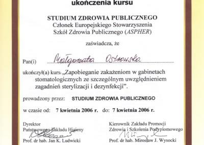 Stomatologia Dentica - Certyfikat - Świadectwo